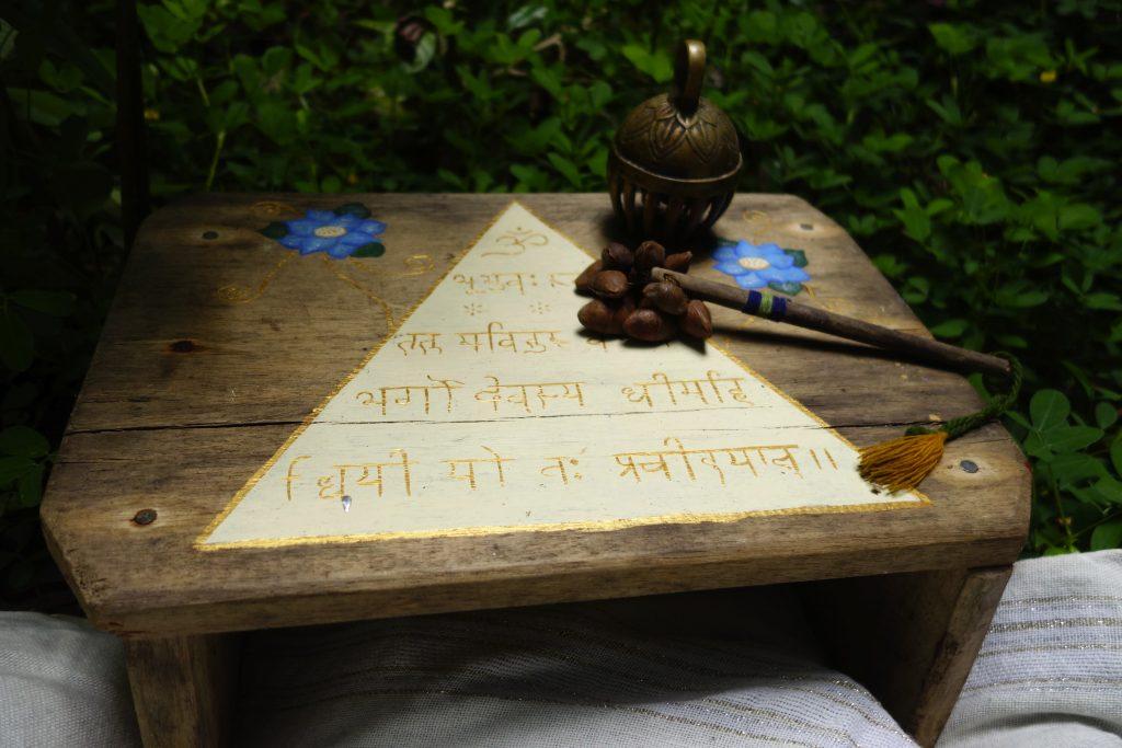 Gayatri Mantra shamanic altar