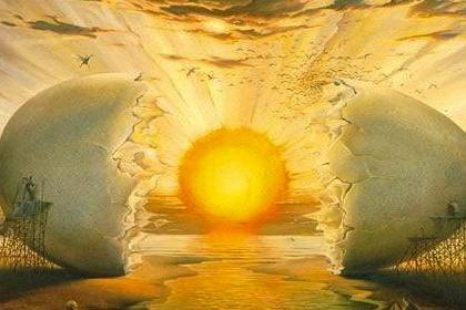 sunrise salvador dali ayahuasca awakening