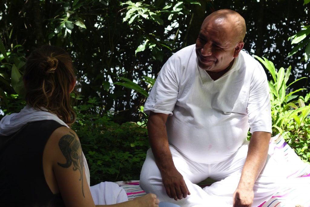 Maestro Sanango ayahuasca shaman before a kambo ceremony at sinchi runa healing retreat